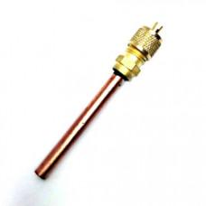 Заправочный клапан Шредера 1/4 с длинной трубки 70 mm. и толщиной 0,60mm.