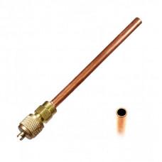 Заправочный клапан Шредера 1/4 с длинной трубки 100 mm. и толщиной 0,60mm.